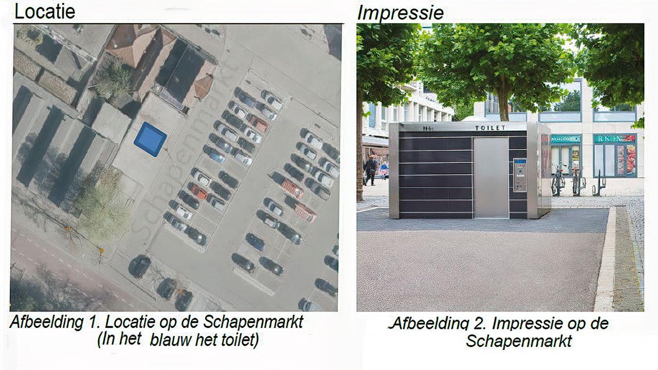Nieuwe plek voor openbaar toilet